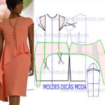 molde de vestido de gala