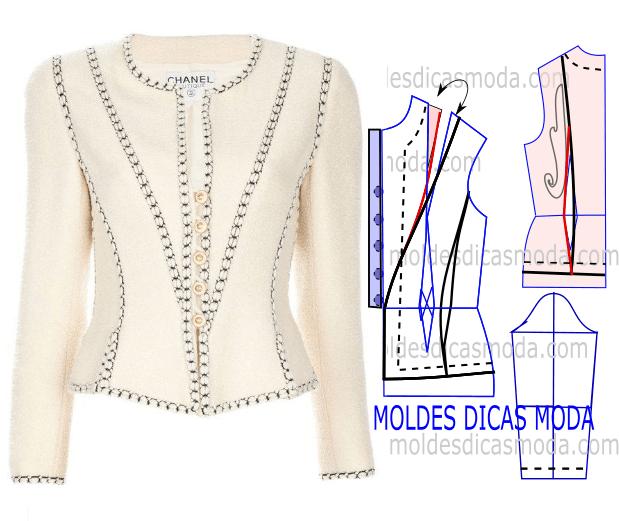 molde de casaco chanel