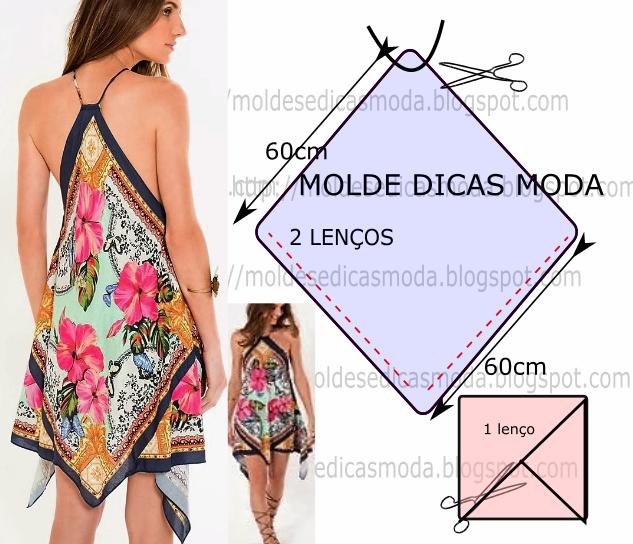 vestido lenço floral