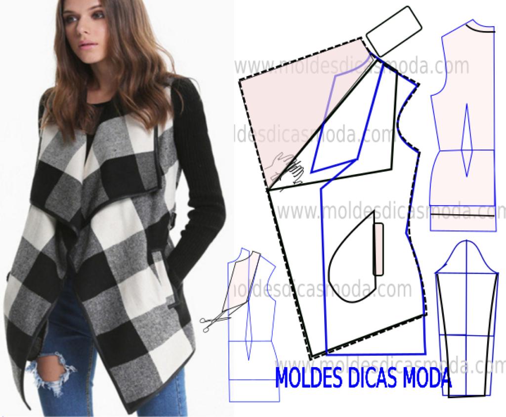 casaco xadrez feminino