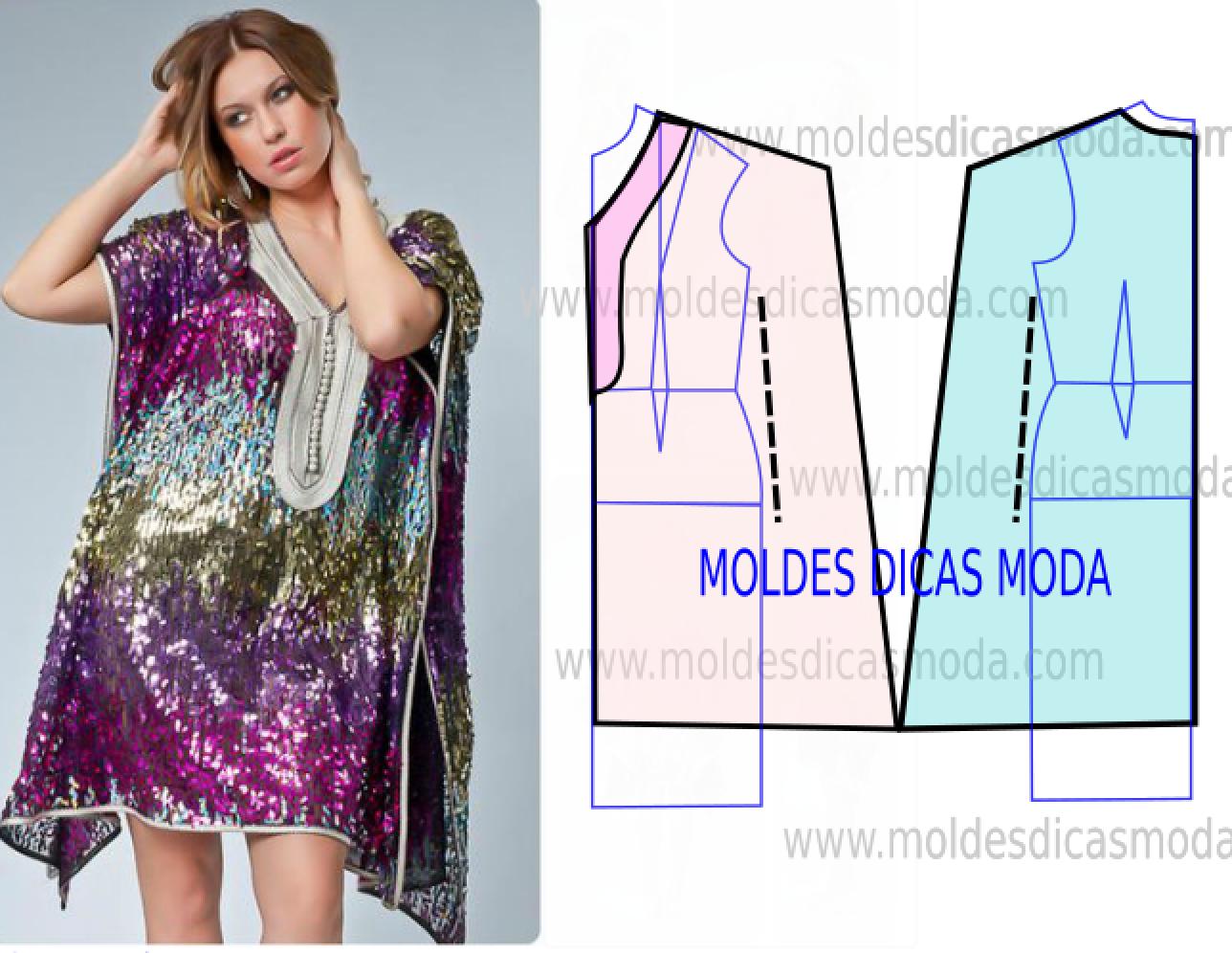 túnica feminina