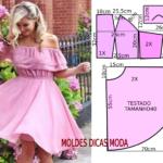 vestido rosa godé