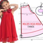 vestido infantil simples vermelho