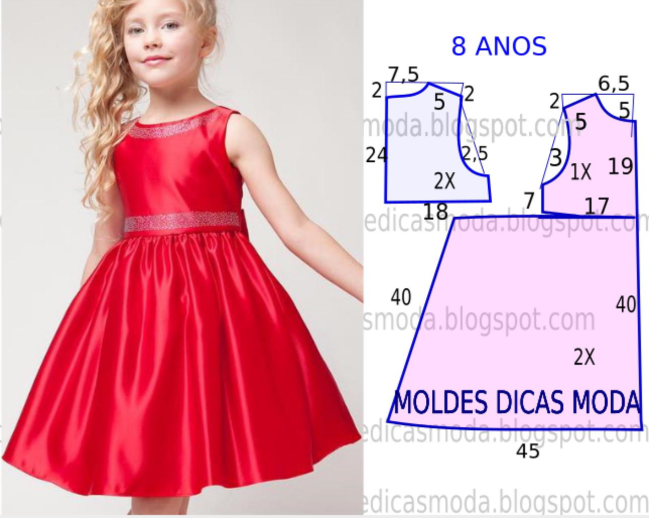 Как строится выкройка: платье для девочки 1 год 56