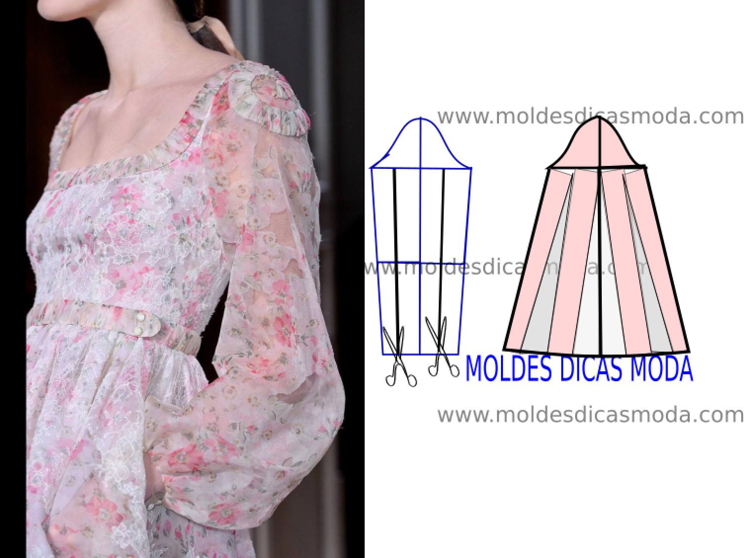 Detalhes de modelagem e design de moda