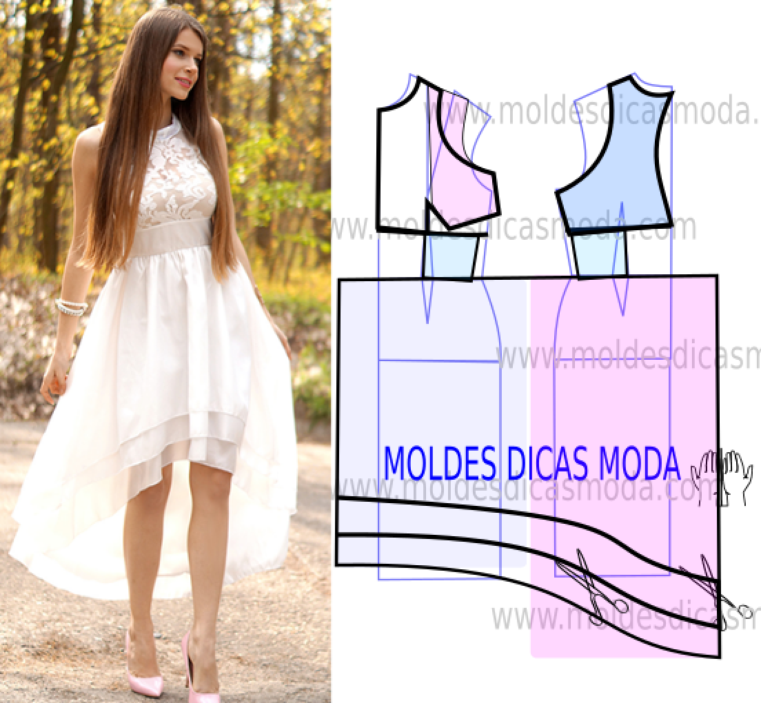 Vestido branco assimetrico