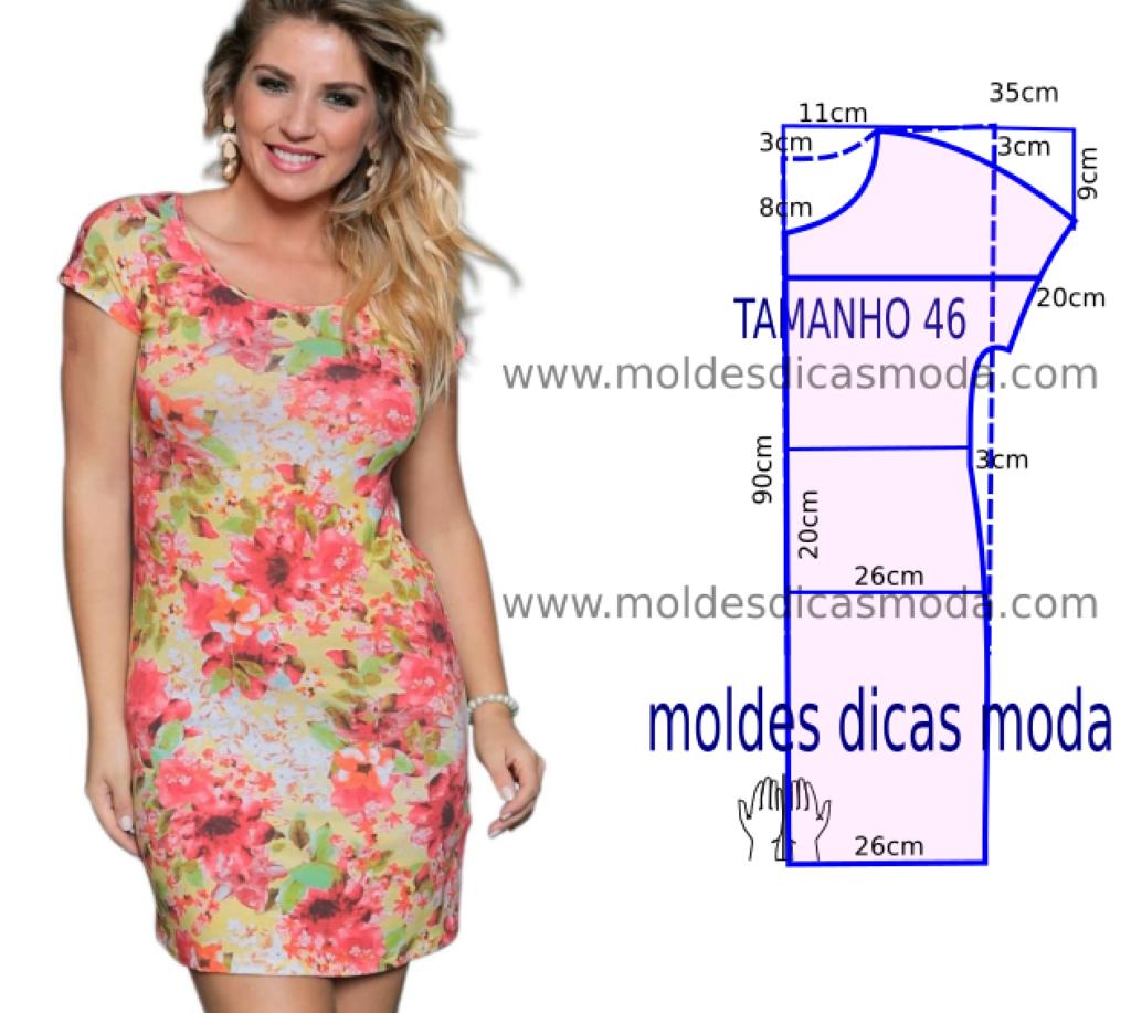 Molde de vestido bem simples