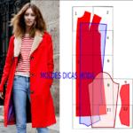 casaco vermelho com molde