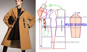 Molde de casaco comprido