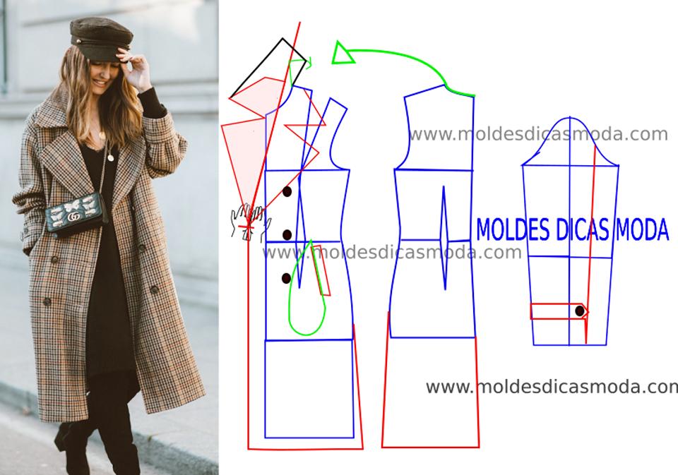 casaco xadrez para senhora