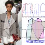 Molde de casaco feminino moda 2019