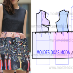 Molde de vestido cor diferente