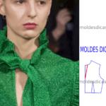 modelagem de blusa com laço