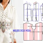 Molde de blusa feminina