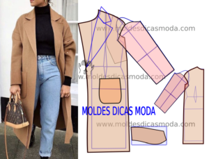 Molde de casaco de lã feminino passo a passo