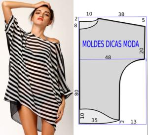 Como fazer túnica feminina longa
