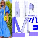 Molde de vestido confortável