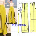 molde de pantalona alfaiataria feminina